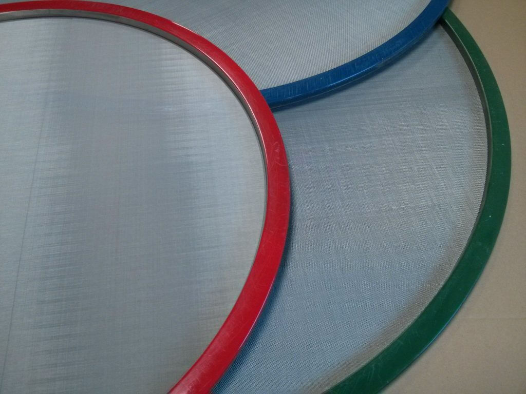 Re-meshing tensioned mesh sieves - highest quality and fast service.