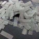 Cut mesh pieces
